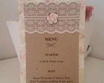 Wedding Menu Card, wedding reception menu, place setting, menus card, wedding guests, table setting