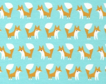 """Fabric Remnant - Elephants in Gold - Fanfare Collection FLANNEL - Cloud 9 Organics - 6.5""""x42"""""""