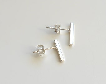 Bar Studs | Earrings | Sterling Silver Earrings
