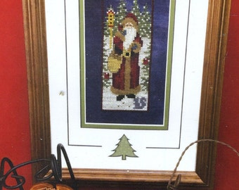 Morning Star Santa by Foxwood Crossings Counted Cross Stitch Pattern/Chart