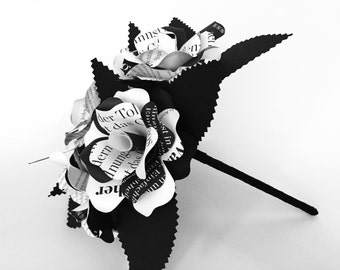 Bridal bouquet for typo - and black / white fans