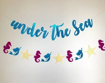 Under the Sea Party, Under the Sea Decorations, Birthday Party Banner