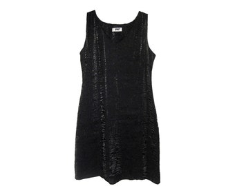 90s Sparkly Grunge Goth Sleeveless Mini Party Dress