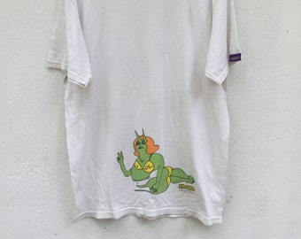 Rare!!!vintage 90s krooked skateboarding i love ezra pond shirt size L