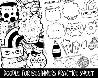 Doodle for Beginners Reference/Practice Printable