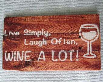 Rustic Wine Theme Pallet Wood Sign