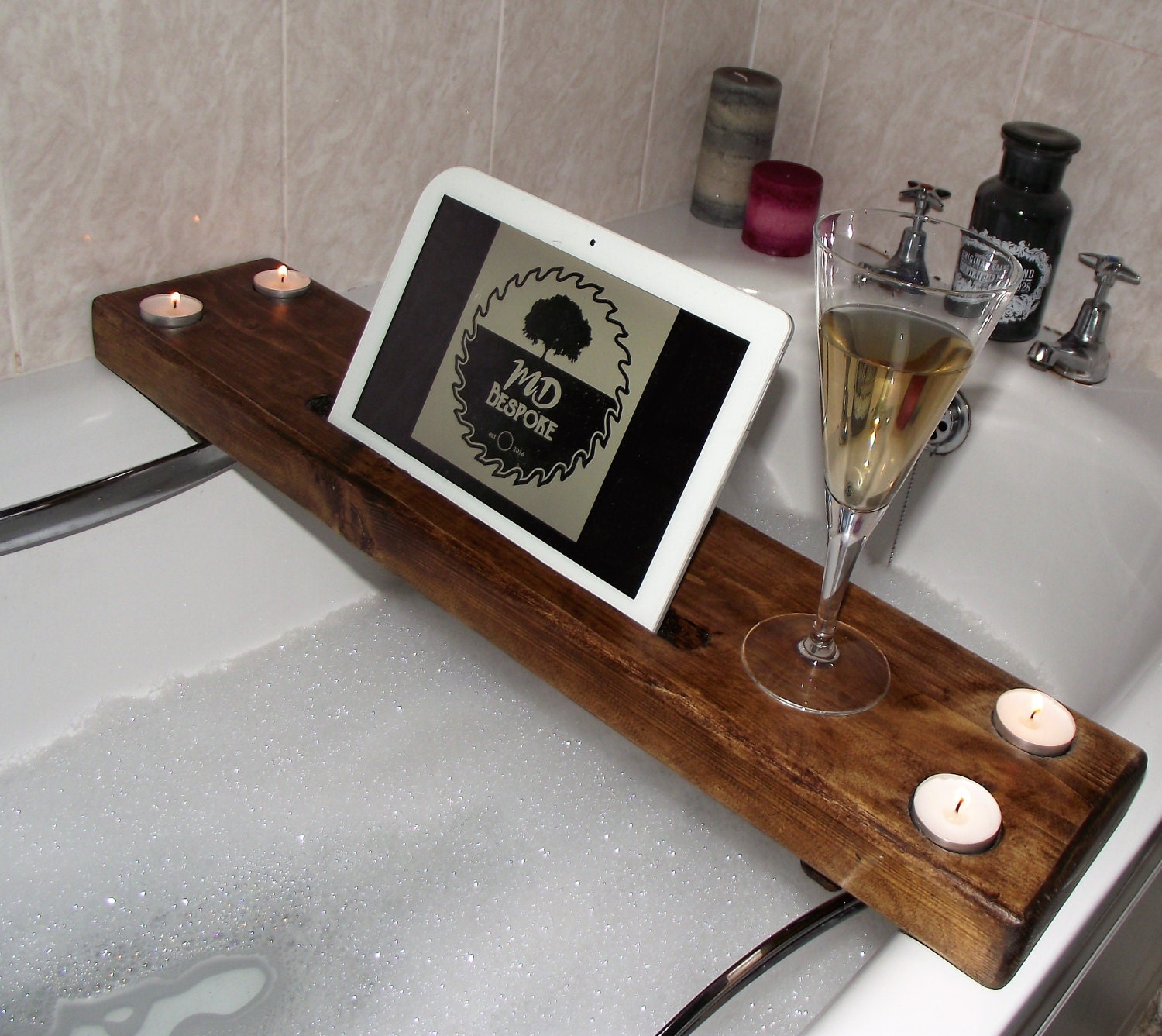 Wooden bath caddy wooden bath tray bathtub caddy bathtub for Bathroom tray