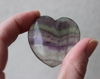 Beautiful Banded Fluorite Heart