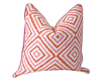 Pink Pillow, Jonathan Adler, Kravet, Electrify Tulip, White Pillow, Graphic Pillow, Throw Pillow, Decorative Pillow, Sofa Pillow