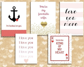Printable Valentines Day Cards for Husband or Wife