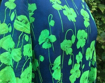 1970s Vintage Dress / Vintage Gown / Green Dress / 1970s Vintage