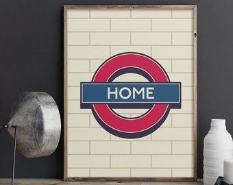 London Underground Signage Poster Art Print