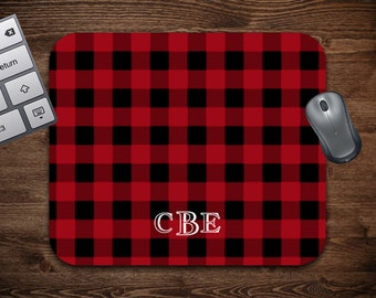 Plaid Mouse Pad | Plaid Gift | Gift for Him | Father's Day Gift | Office Gift | Mouse Pad | Custom Mouse Pad | Personalized Mouse Pad