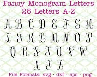 script monogram svg dxf eps png fancy monogram letters svg cursive monogram svg script font monogram cricut silhouette cut files