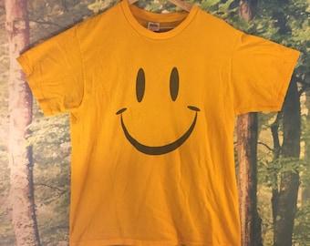 Original Smiley Face Shirt // Classic Smiley // Vintage Smiley T- Shirt // Large