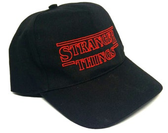 Stranger Things inspired Embroidered Baseball Cap
