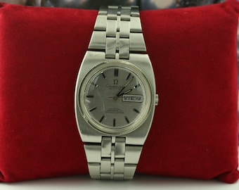 1970 Omega Constellation Vintage Mens Calendar Day Date Watch Stainless Steel & 18K White Gold