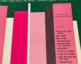 Vintage 1958 Christmas Music MPH Series for All Organs No. 6