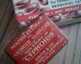 SALE - reduced price - Two cute vintage British tins