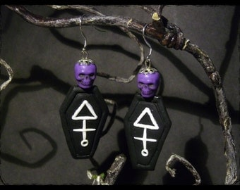 Occult coffins. -Earrings
