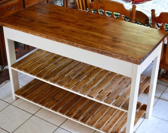 ... Wooden Kitchen Island Table Kitchen Island Etsy ...