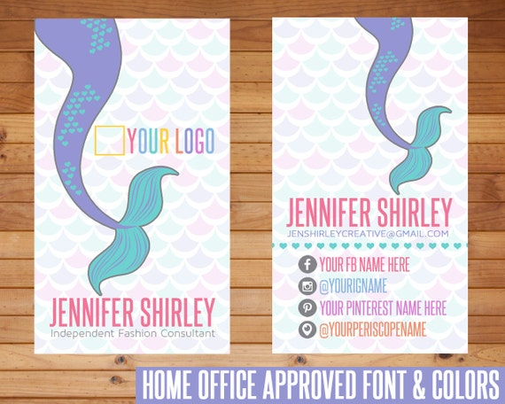 Sale business cards mermaid design customized home office for Vistaprint lularoe