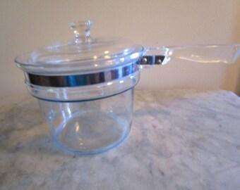 Pyrex Double Boiler, Clear Glass, 1 1/2 Qt., 6283-L Flameware