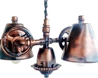Vintage industrial lamp shades, Vintage pendant lighting kitchen, Edison lights, Industrial pendant lighting, Steampunk hanging lamp