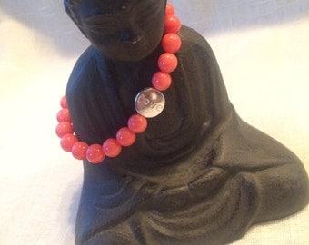 Pink Coral Love Bracelet.