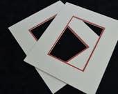 """10"""" x 8"""" Picture Mount to fit 6"""" x 4"""" (Pack of 2)"""