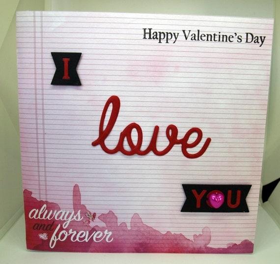 Valentine's Day Card - luxury personalised unique quality special bespoke UK - Wife/Girlfriend/Husband/Boyfriend/Partner