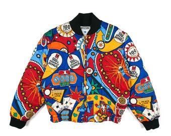 Vintage Moschino pinball bomber jacket