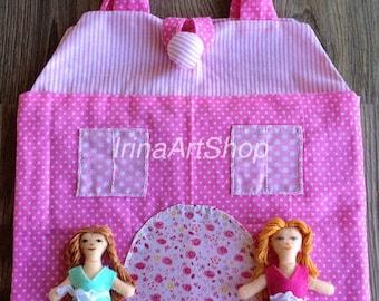 A doll house -A textile house - A small house - a handbag