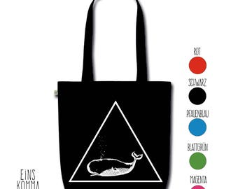 "Organic cotton bag ""Whale"""
