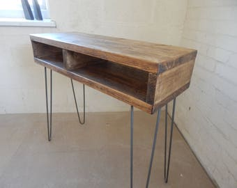 Rustic Desk / Industrial desk Standing desk Console Table