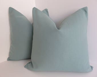 Teal Canvas Pillow Covers- Canvas Pillows- Turquoise Pillow Covers- Teal Pillow Covers- 16x16-18x18-20x20-22x22