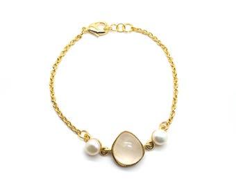 Gaea Bracelet - Gold - Moonstone