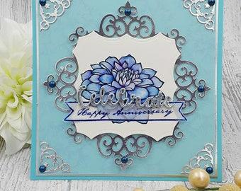 "handmade anniversary greeting card (5.5"" X 5.5"")"