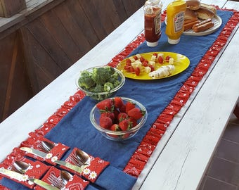 Country Cookout Table Runner
