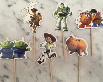 Toy Story Cupcake Picks Toppers Cake Decorations Kids Novelty Birthday Party Supplies