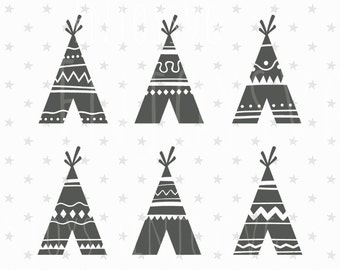 "Shop ""teepee svg"" in Scrapbooking Supplies"