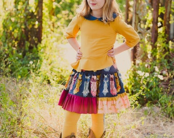 Aspen Skirt Girls PDF Pattern-Holiday Skirt Pattern-Skirt PDF Pattern - Girl Skirt Pattern - Girls Skirt Pattern - Girls Pattern - Girls PDF