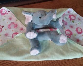 Elephant little critter flannel blankie