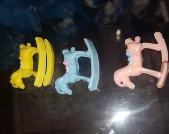 25 mini capia rocking horse  charms for baby shower favors table decor