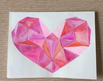 Mosaic Heart Card
