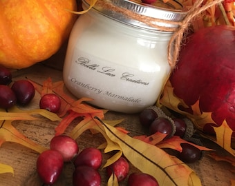 16 ounce candle, cranberry marmalade candle, fall candles,Christmas candles, home fragrance
