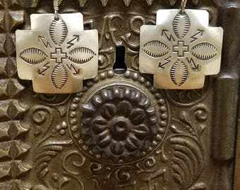 Navajo Sterling silver vintage earrings