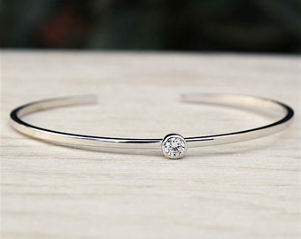 massive silver ring 925 bracelet and lonely zircon