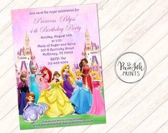 Princess Birthday Invitation, Princess Birthday Invitation, Princess Birthday Party Printable, Princess Party Invitation, Princess Castle