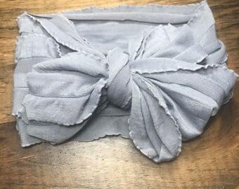Grey ruffle wrap
